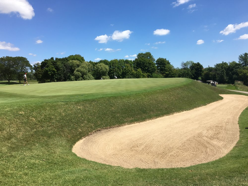 The deep back right bunker on the 11th.