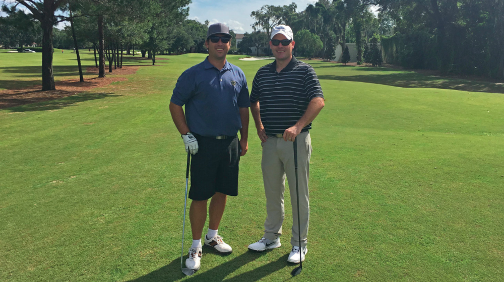 Keith and Riley at Winter Park GC