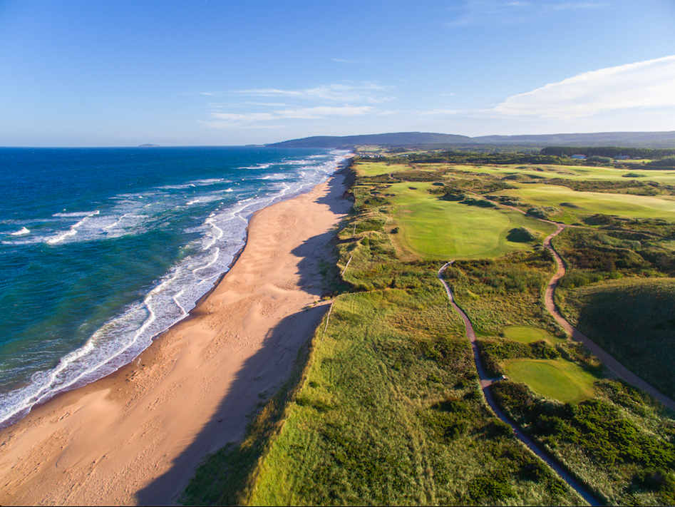 A great aerial shot of the 15th. Photo Credit: Evan Schiller.