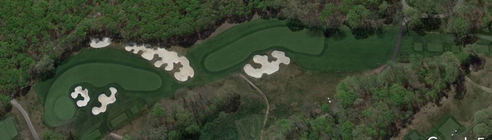 A look at Bethpage Black's 4th hole from Google Earth.
