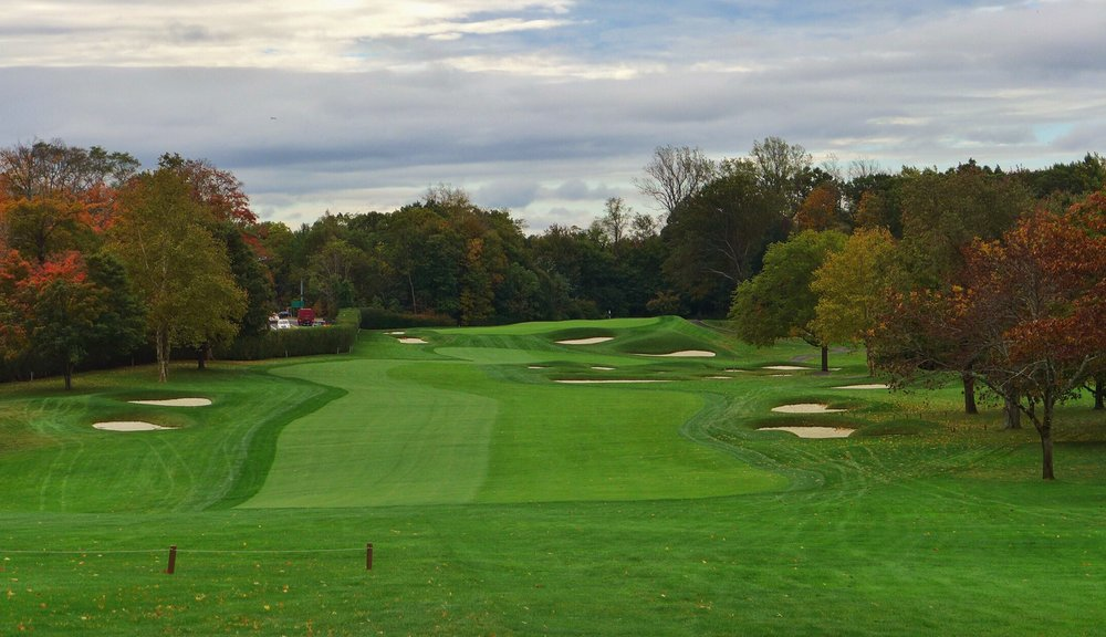 Fenway's par 5 3rd from the tee, great hazard on the right. Photo Credit: Jon Cavalier  @linksgems