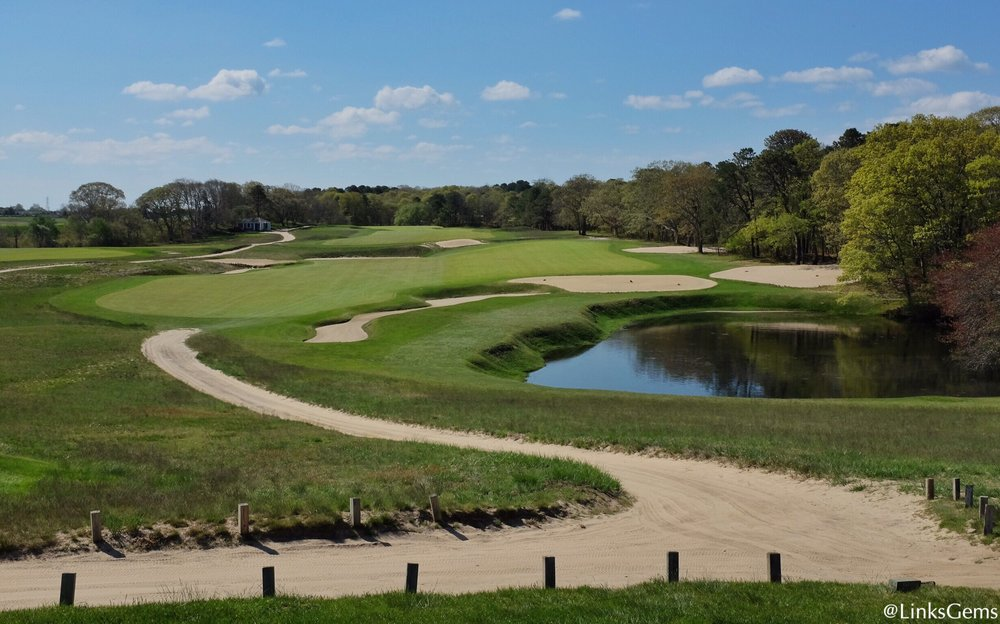 A look at NGLA's 9th from the tee. Photo Credit: Jon Cavalier  @linksgems