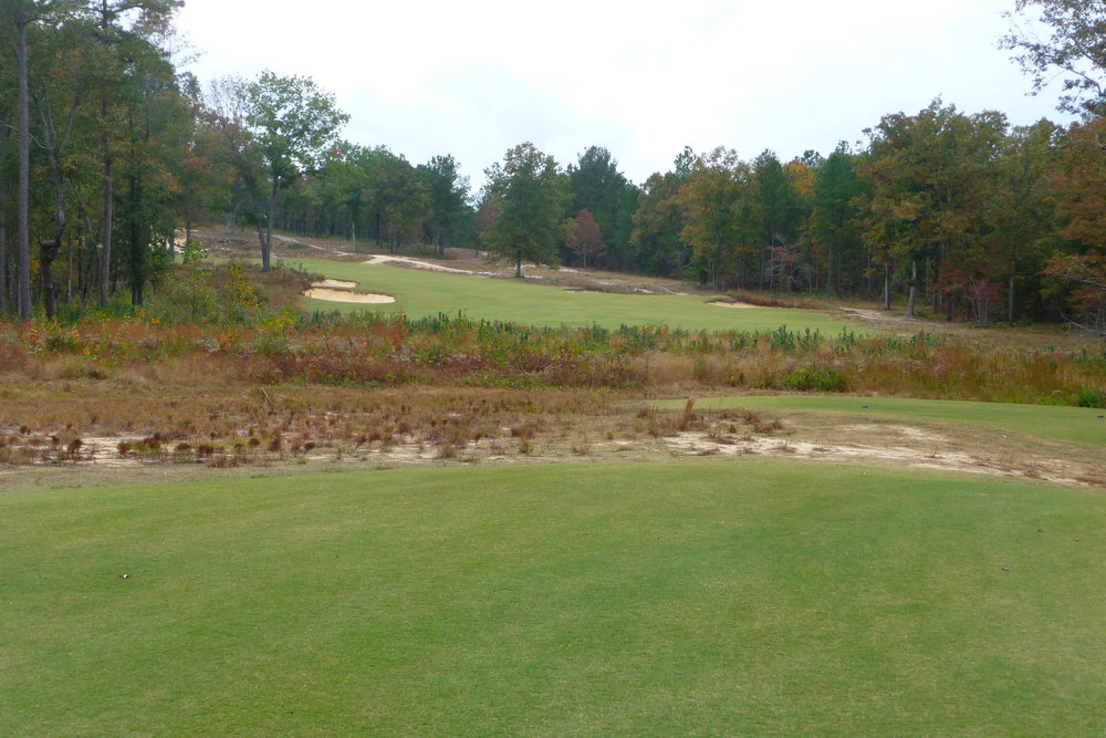 The 17th tee shot at Dormie Club