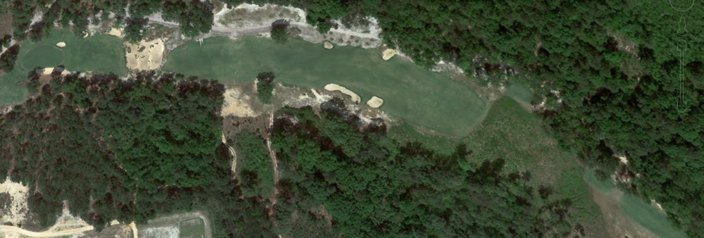 Dormie Club's 17th from Google Earth.