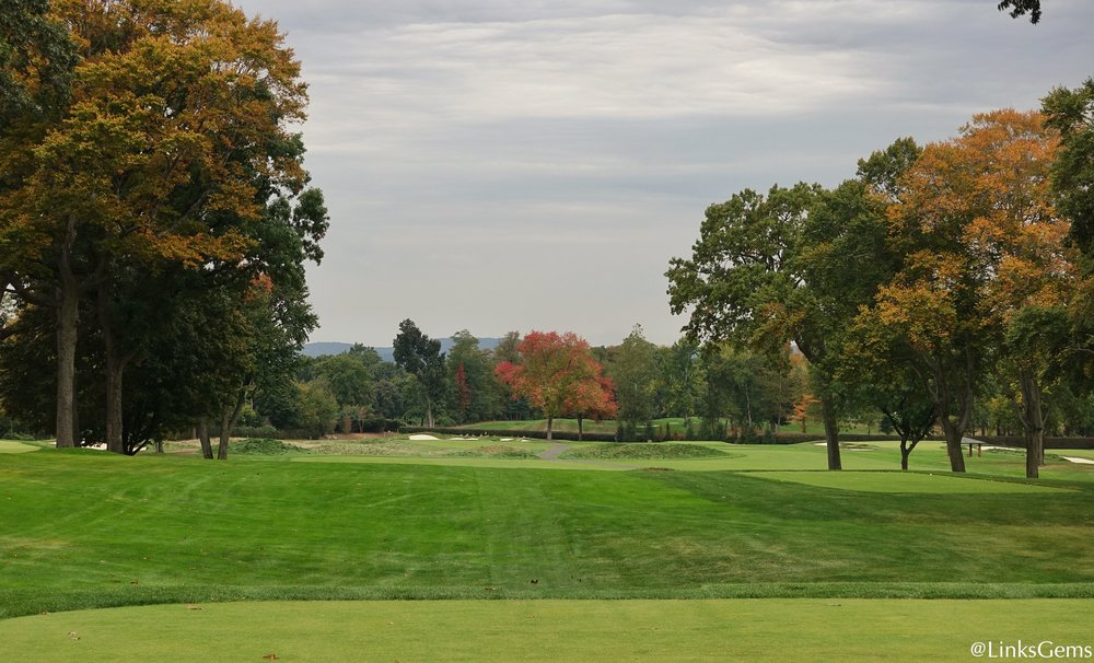 The 13th tee shot at Ridgewood.