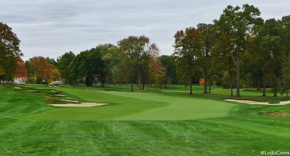 A look at the Great Hazard at Quaker Ridge Photo Credit: Jon Cavalier  @linksgems