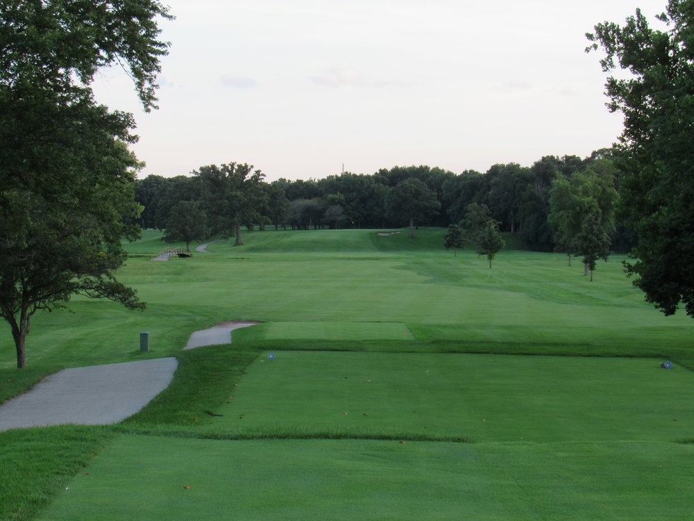 The tee shot at Flossmoor's 17th.