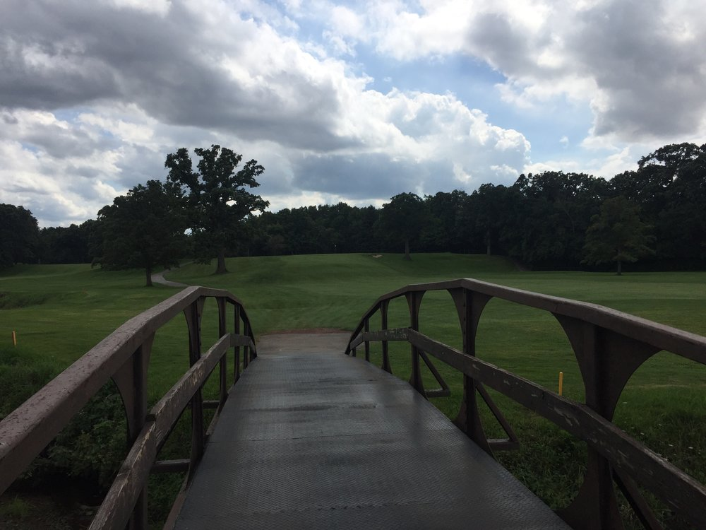 The bridge over the creek to the 17th green. Photo Credit: Ian Gilley  @igilley