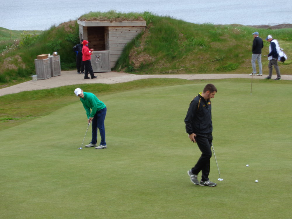 The putting green at Cabot Links.