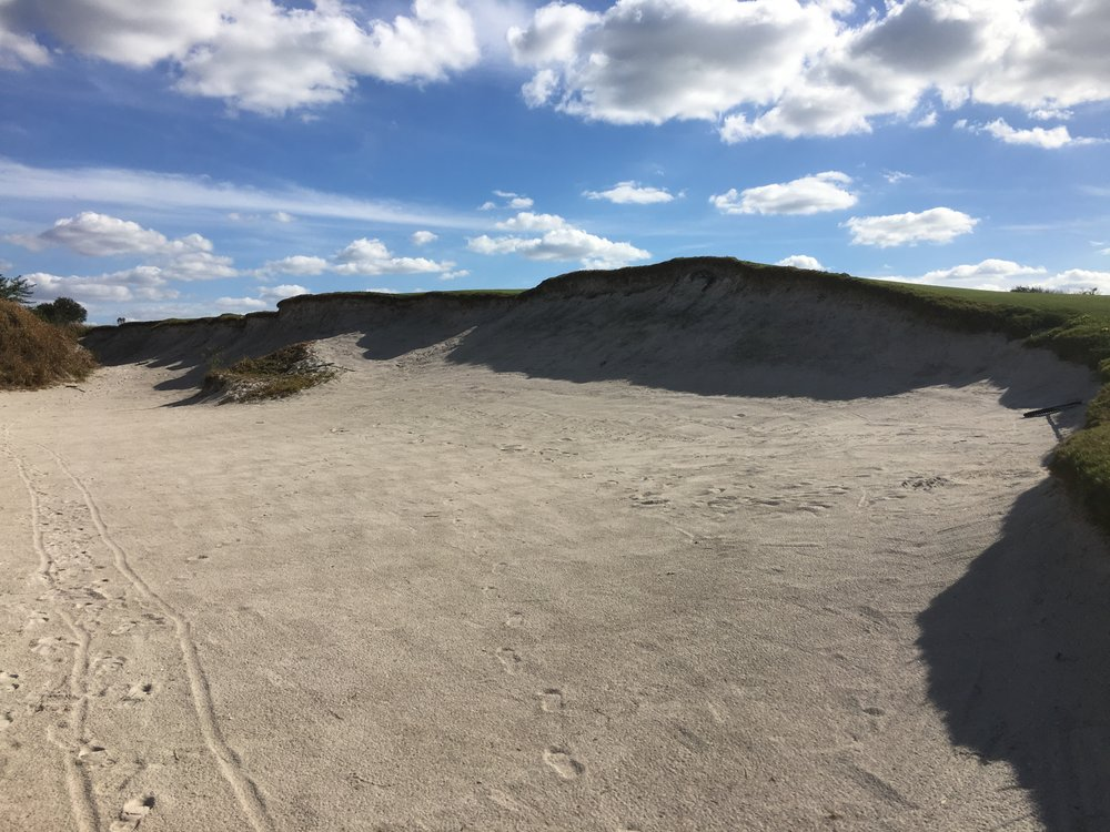 Streamsong Red's massive fairway bunker on the 15th