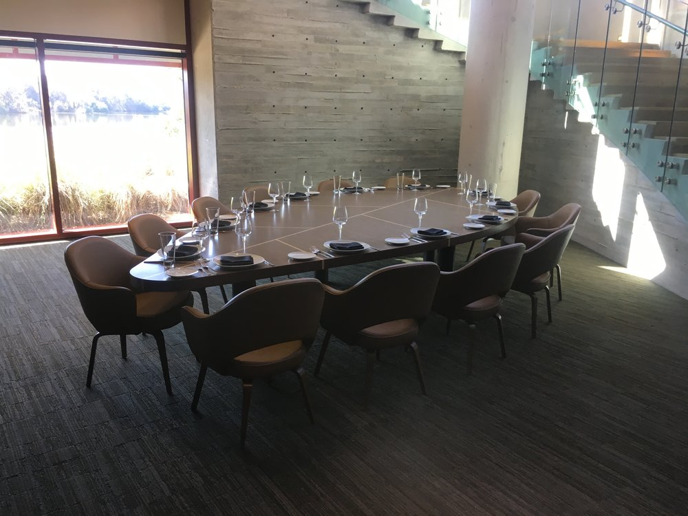 A private dining area for large groups