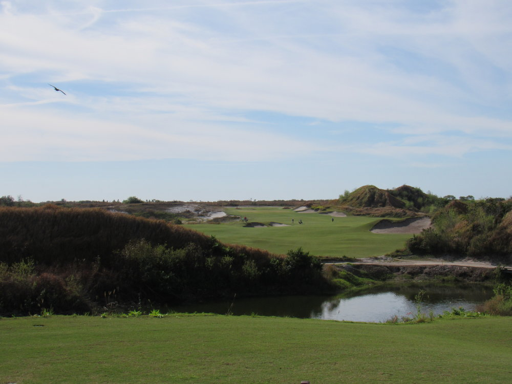 The opening tee shot at Streamsong Red