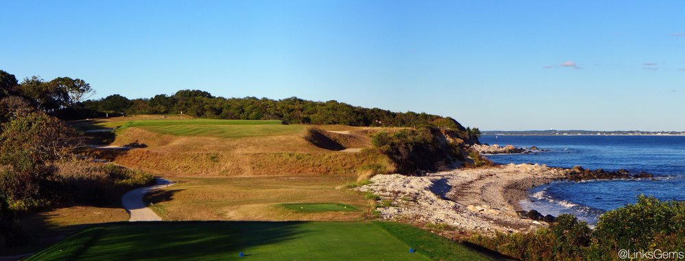 Fishers Island Club's 5th. Photo Credit: Jon Cavalier  @linksgems