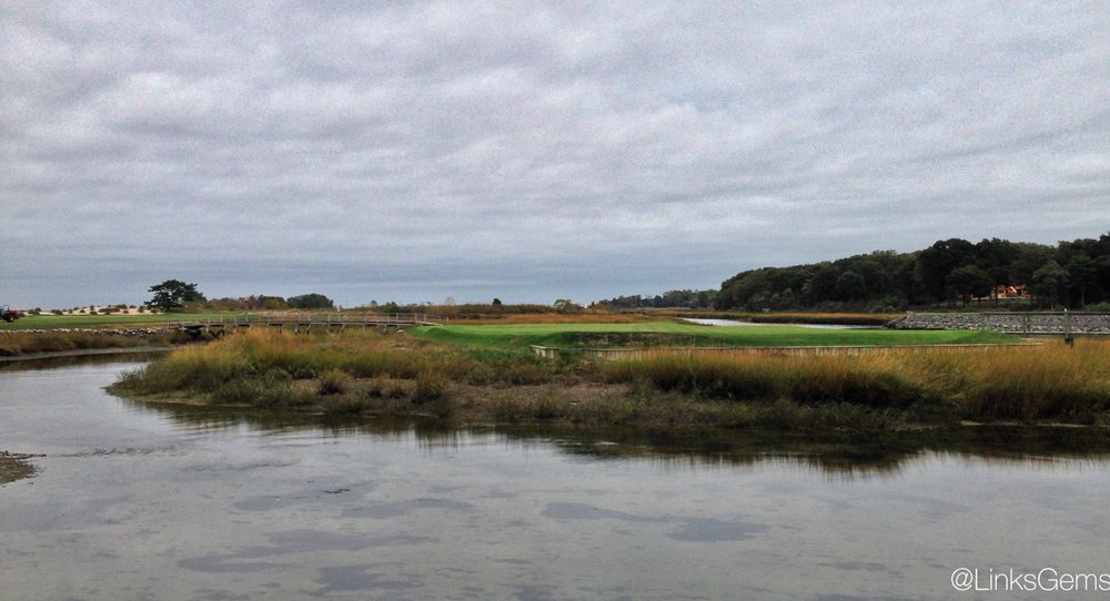 Another look at the great 11th hole at the Creek Club. Photo Credit: Jon Cavalier @linksgems