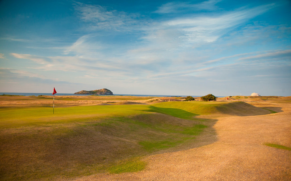 The wild 16th green at North Berwick Golf Club Photo Credit: North Berwick Golf Club