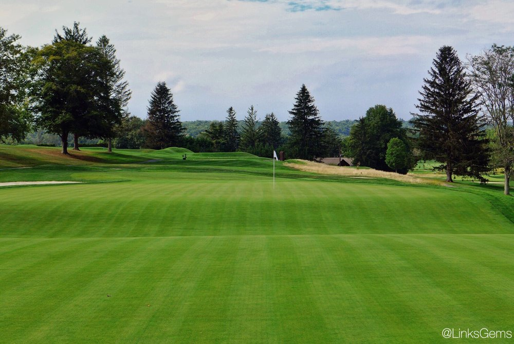 The back for the 12th green at Tamarack. Photo Credit: Jon Cavalier  @linksgems