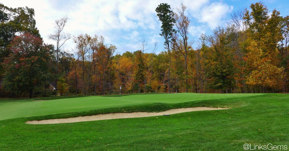 The side view of the biarritz at Tillinghast's Somerset Hills. Photo Credit: Jon Cavalier  @linksgems