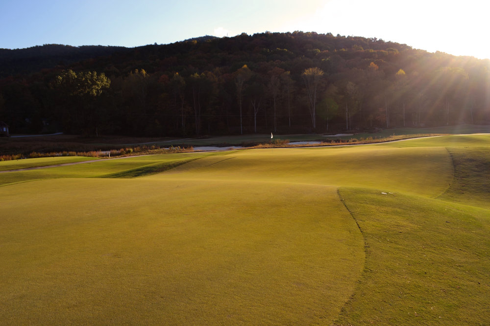 The 8th green at Sweeten's Cove. Photo Credit: Sweetens Cove