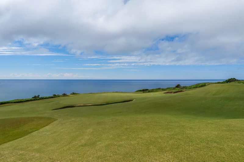 The 12th green at Cabot Cliffs. Photo Credit: Christian Hafer  @hafe_life