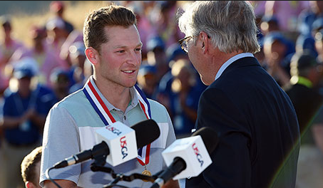 Campbell earning low-amateur honors at the 2015 U.S. Open Credit: USGA
