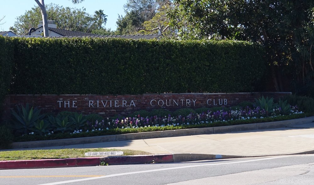 The unassuming entrance to Riviera Country Club. Photo Credit: Jon Cavalier @linksgems