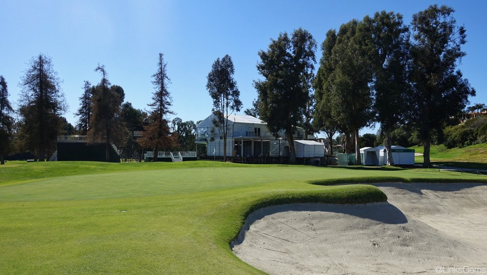 The challenging 3rd green at Riviera. Photo Credit: Jon Cavalier @linksgems