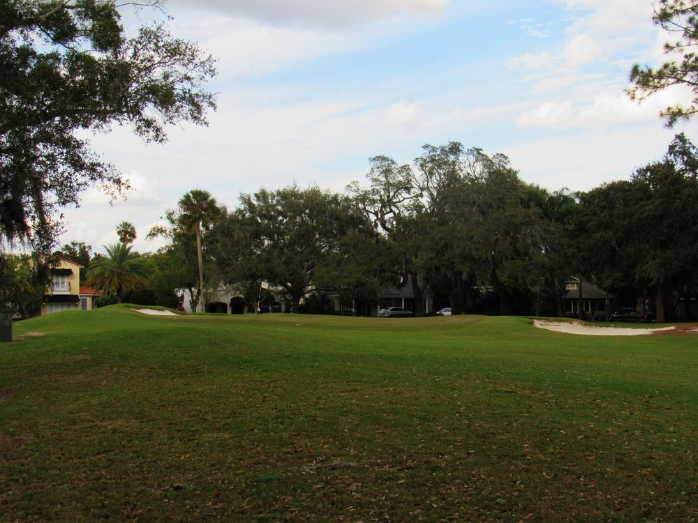 Approaching the third green from the left side.