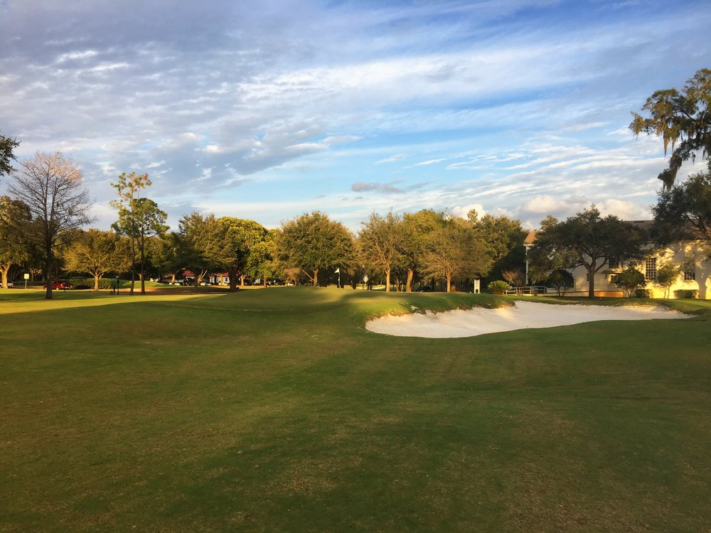 The front right of the par 3 7th's green complex.