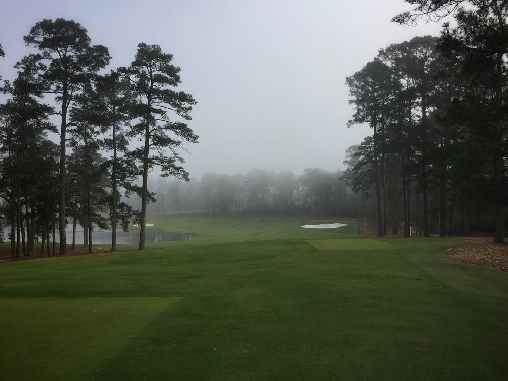 The 1st tee shot at Bluejack