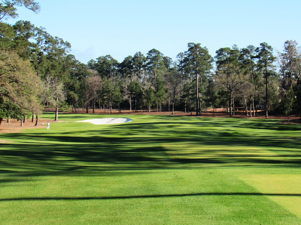 The 2nd tee shot at Bluejack