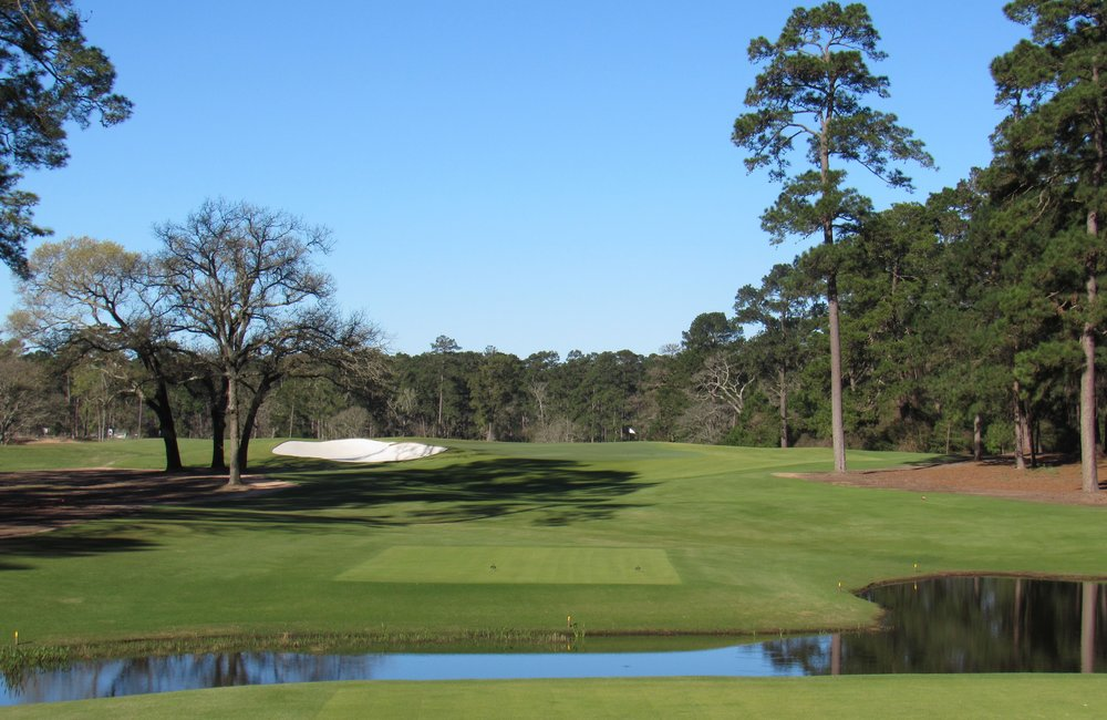 The par 3 third at Bluejack