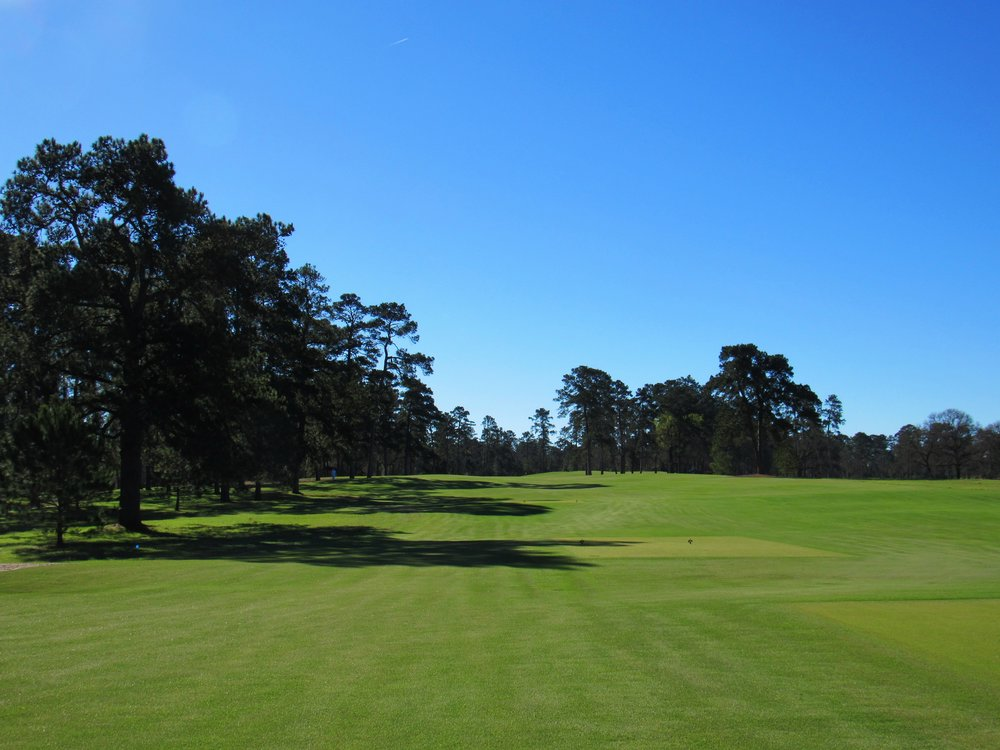 The 4th tee shot at Bluejack