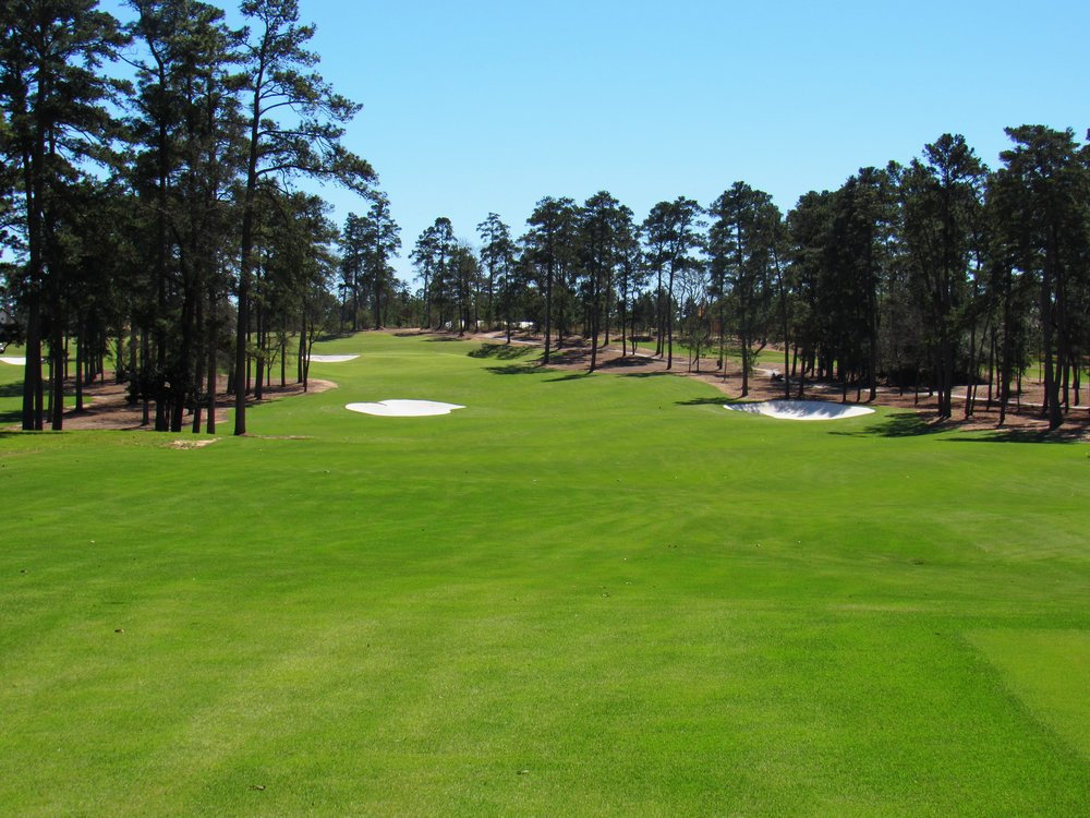 The 18th tee shot at Bluejack.
