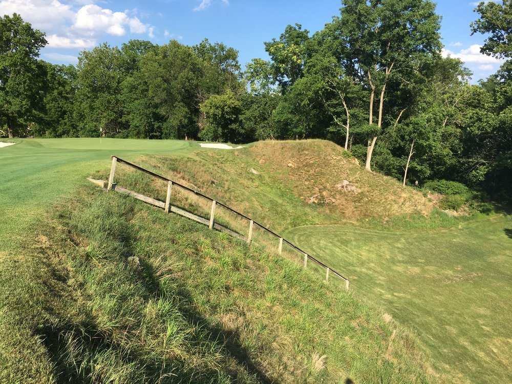 The quarry on the 16th at Manufacturers G&CC in Philadelphia