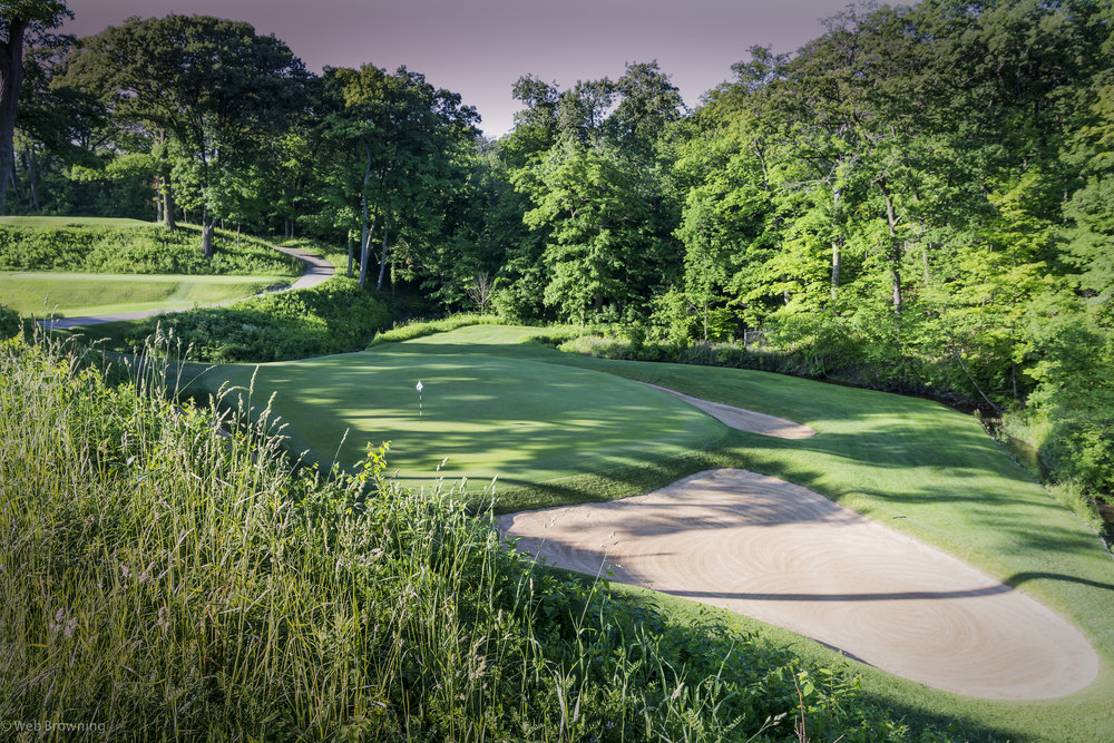 The 12th at Shoreacres plays into a ravine