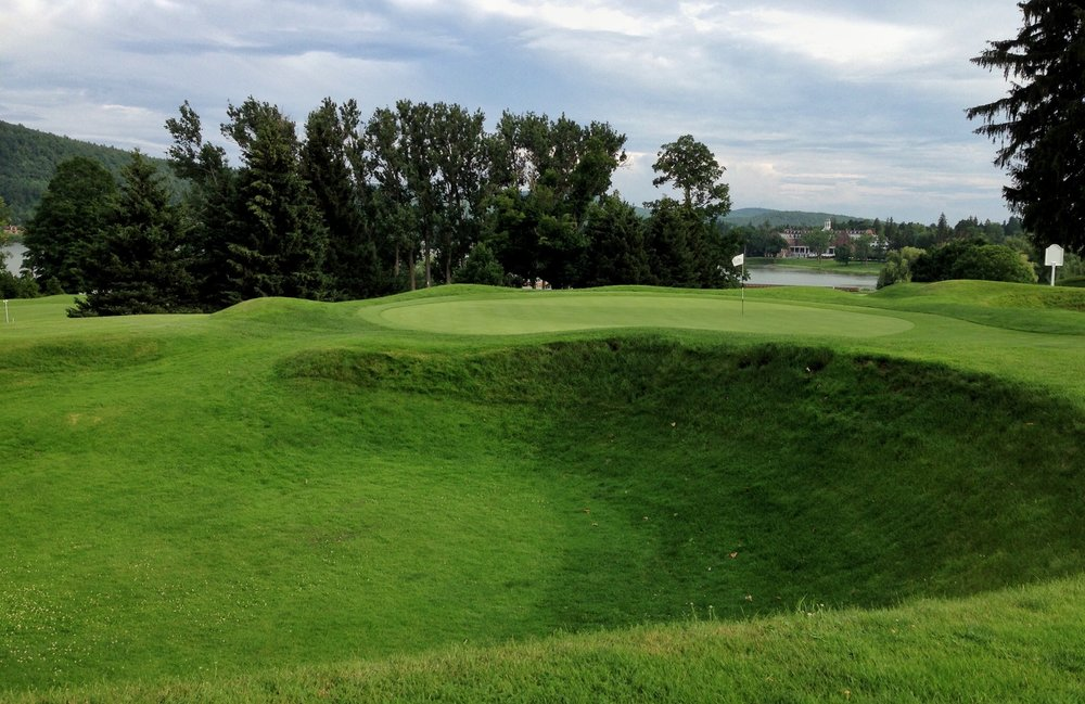 The great grass bunker at Leatherstocking Photo Credit: Jon Cavalier @linksgems