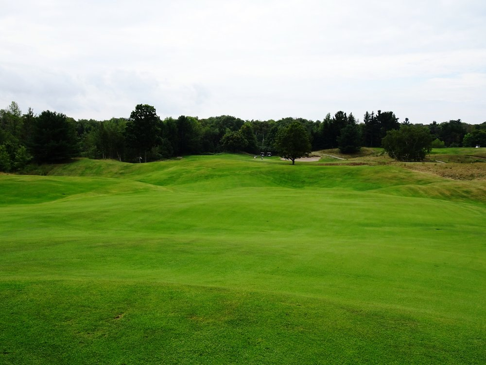 The natural contours of the fairways at Crystal Downs create awkward uneven lies