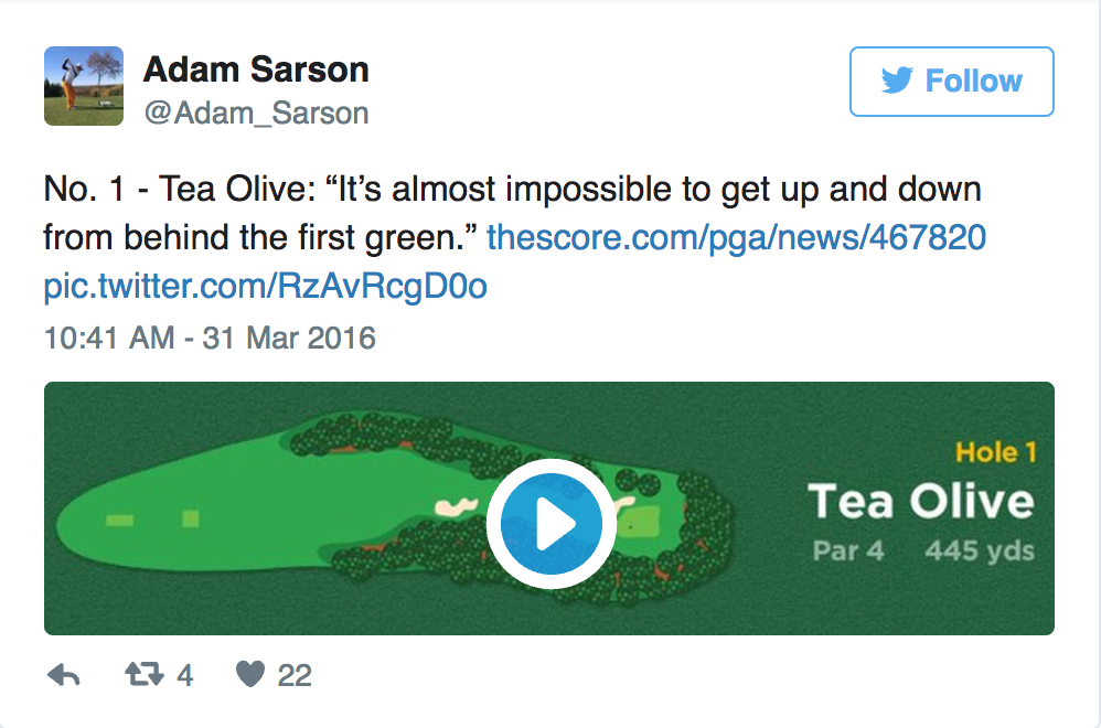 Adam Sarson's Augusta National Tour in GIFS - Adam Sarson