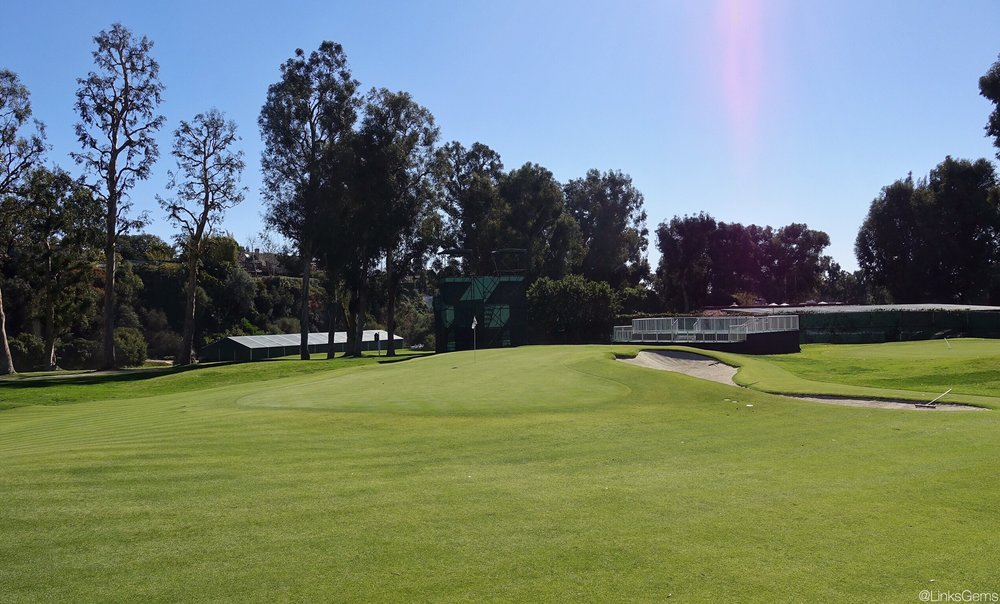 The small 10th green at Riviera