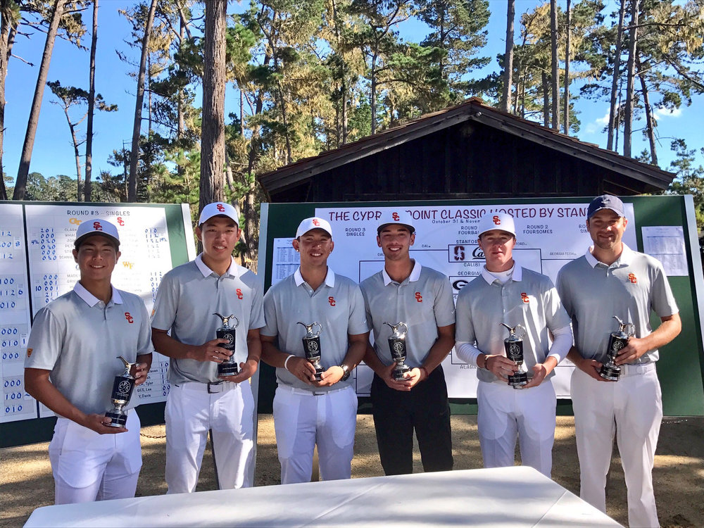 USC following their win at Cypress Point