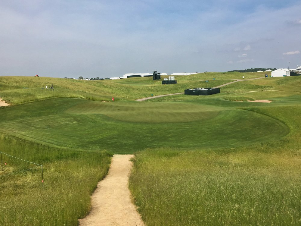 The third green at Erin Hills