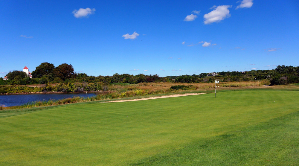 From the front right of the 2nd hole at Fishers Island. Photo Credit: Jon Cavalier @linksgems