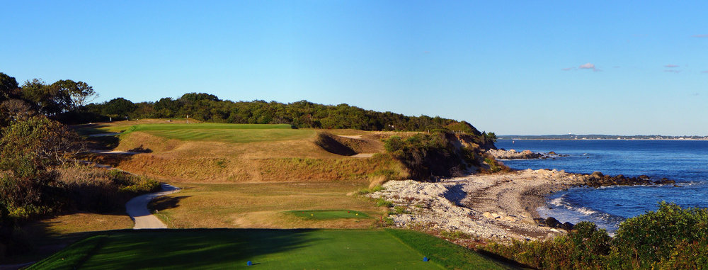 The fifth tee shot. Photo Credit: Jon Cavalier @linksgems