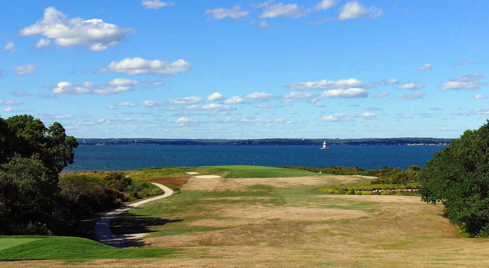 The famed tee shot at the 7th. Photo Credit: Jon Cavalier @linksgems