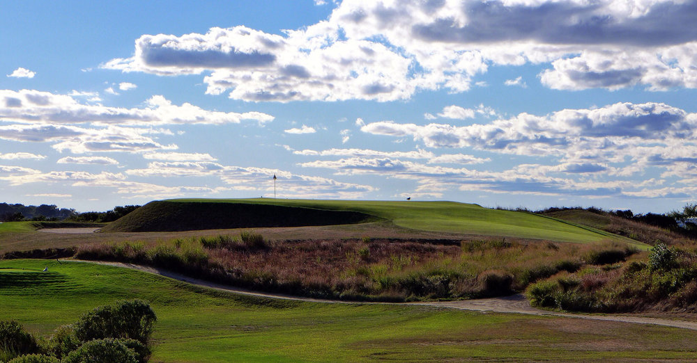 The view of the severe 11th from the 12th hole. Photo Credit: Jon Cavalier @linksgems
