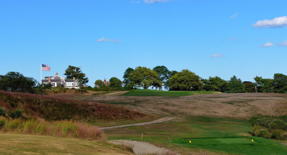 The tee shot at the tricky par 4 12th. Photo Credit: Jon Cavalier @linksgems
