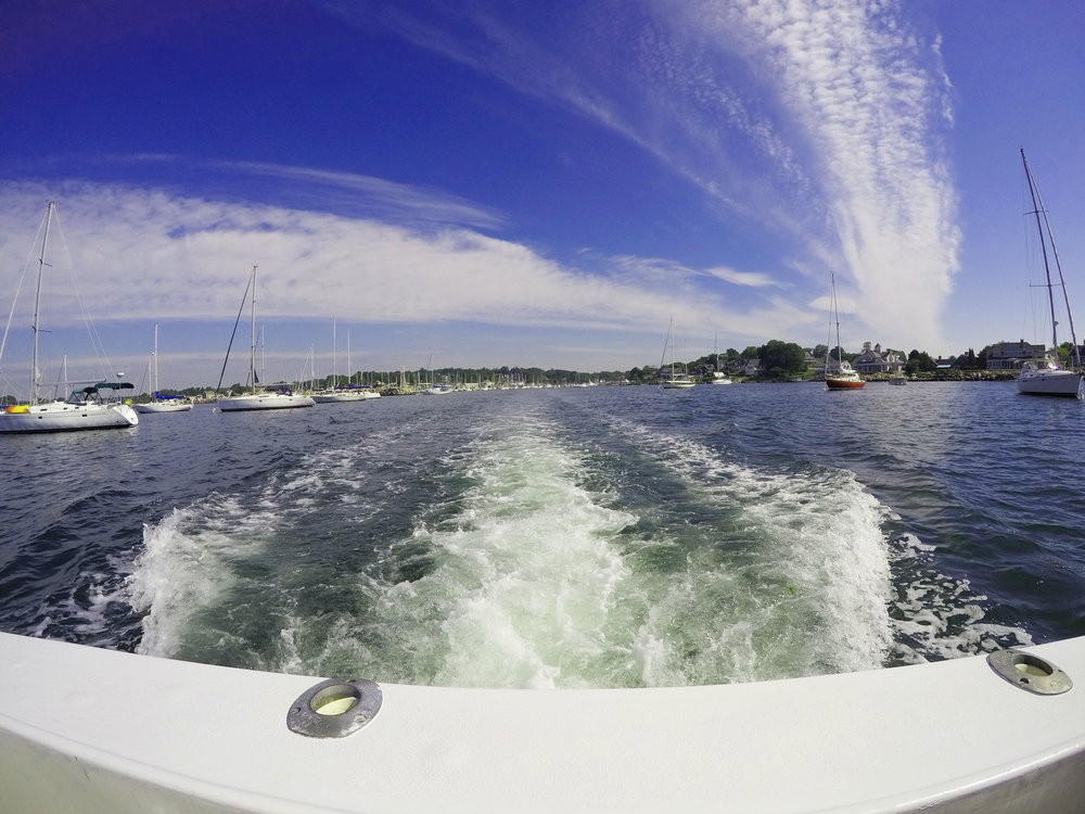 The boat ride to Fishers Island