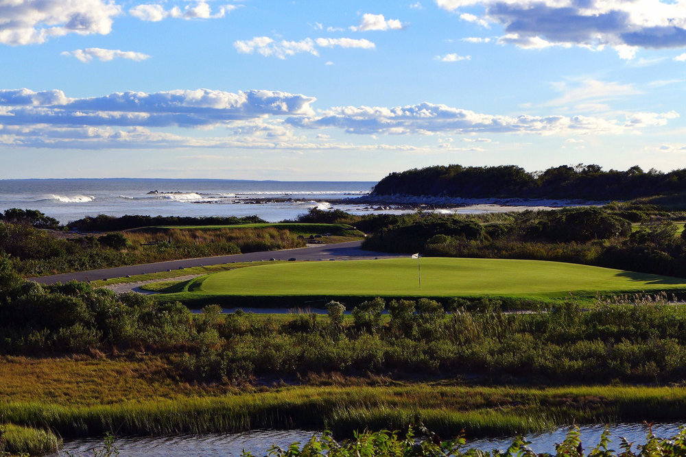 The 16th at Fishers Island Photo Credit: Jon Cavalier @linksgems