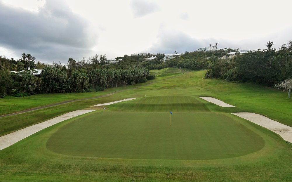Looking back at the 13th at Mid Ocean Club. Photo Credit: Jon Cavalier @linksgems