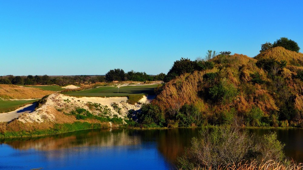 The jaw dropping 16th at Streamsong Red is a marvel of modern scale. Photo Credit: Jon Cavalier  @linksgems